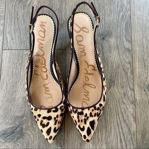Sam Edelman Leopard Slingback Pointed Toe 8.5